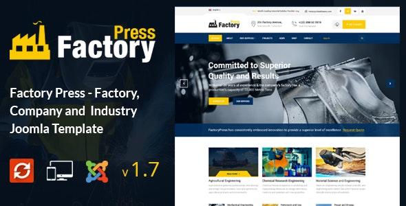 Factory Press - Industrial Business Joomla Template - Business Corporate