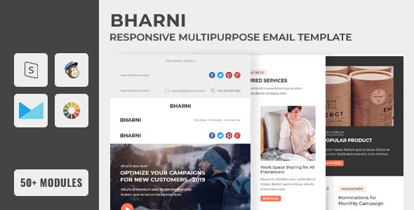 Bharni Email Newsletter Template