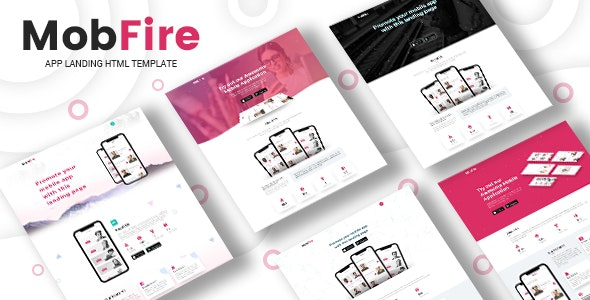 Mobfire | Creative HTML5 App Landing Page - Technology Site Templates