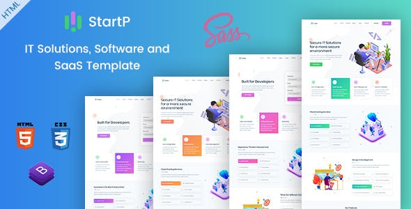 Startp It Solutions And Saas Template