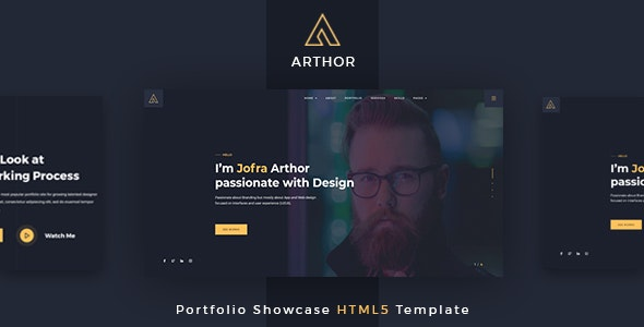 Arthor - Creative Portfolio Showcase HTML Template - Creative Site Templates