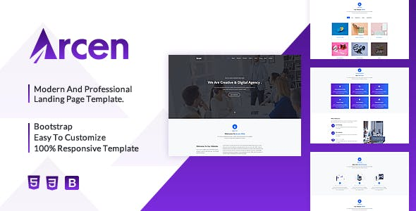 Arcen - Responsive Multipurpose Business Template