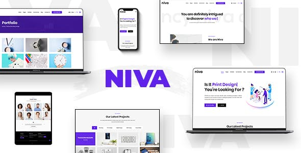 Niva -  Creative Agency & Freelancer WordPress Theme