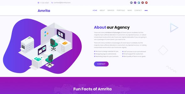 AMRITA - Creative PSD Template