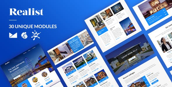 Realist Email-Template + Online Builder