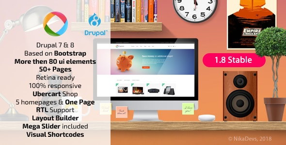 Progressive — Multipurpose Responsive Drupal 7 & 8 Theme by
