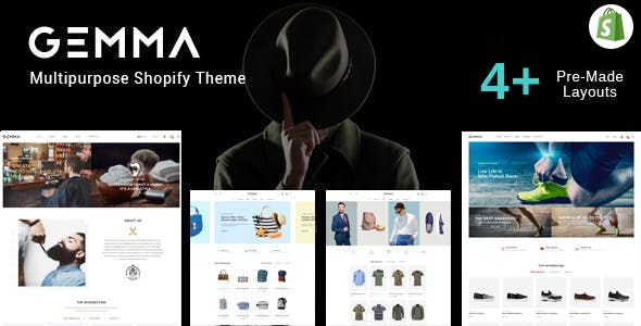 Gemma Fashion & Barber Shop Shopify Theme