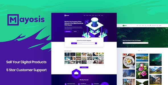 Mayosis - Digital Marketplace WordPress Theme