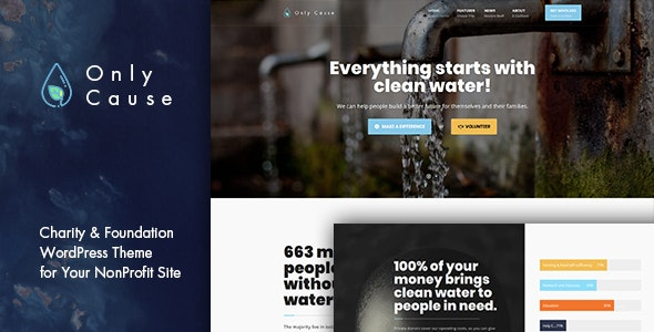 Only Cause - Charity & Foundation WordPress Theme - Charity Nonprofit