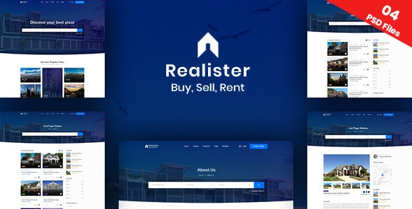 Realister Real Estate PSD Template - Business Corporate