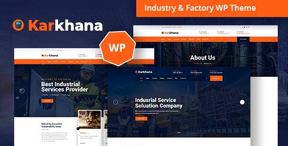 Karkhana - Industry & Factory WordPress Theme - Business Corporate