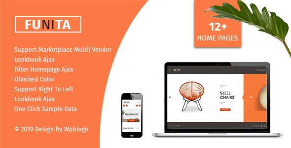 Funita - Multi Vendor WooCommerce Furniture Theme - WooCommerce eCommerce