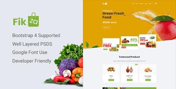 Fikza - Woocommerce Shop PSD Template - Photoshop UI Templates