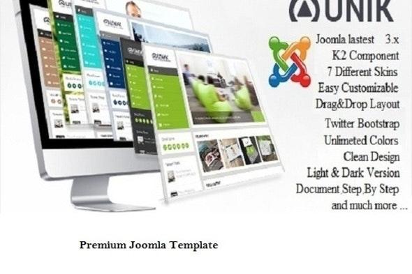 Uni - Vertical Responsive Joomla Template - Corporate Joomla