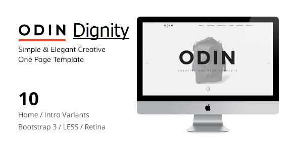 ODIN - Simple & Easy Creative One Page Joomla Template - Portfolio Creative