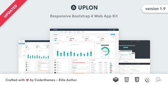 Uplon - Responsive Bootstrap 4 Web App Kit by coderthemes