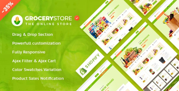 Grocery Store - Vegetable & Organic Responsive Shopify Theme - Shopify eCommerce