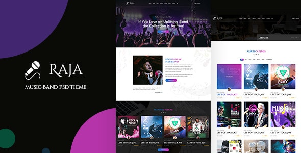 Raja   Events and Music PSD - Nightlife Entertainment