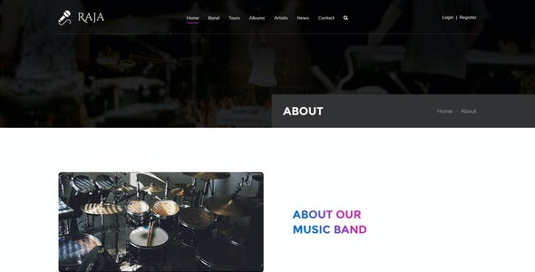 Raja | Events and Music PSD