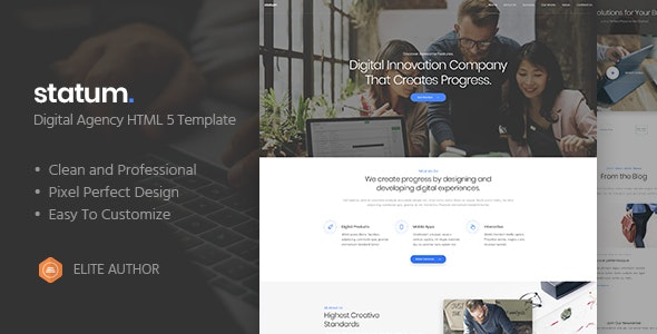 Statum - Business & Agency HTML5 Template - Business Corporate