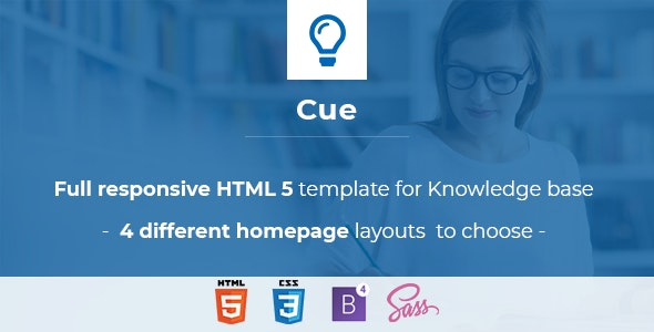 Cue  -Complete Help, Support Website Template - Site Templates