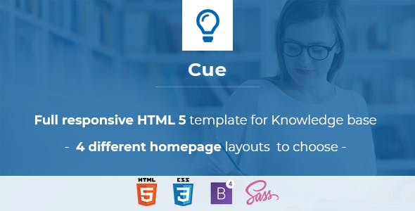 Cue  -Complete Help, Support Website Template