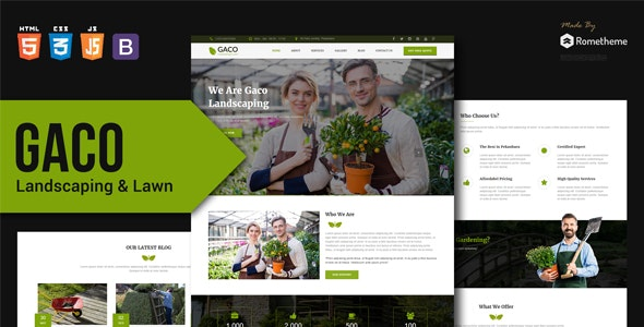 Gaco - Landscaping & Gardening HTML Template - Retail Site Templates