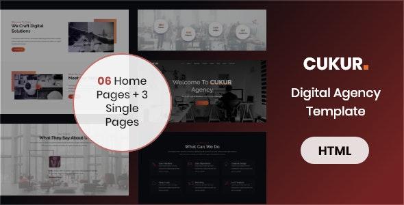 Cukur - Digital Agency Template - Business Corporate