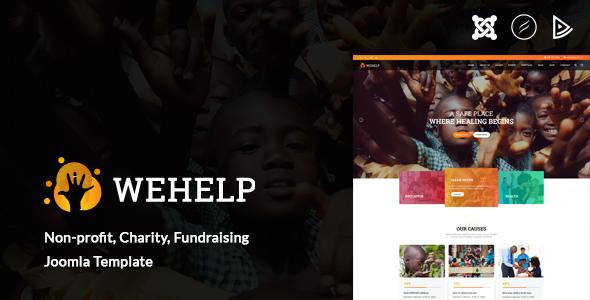 WeHelp - Charity, Non-profit, fundraising Joomla Template - Charity Nonprofit