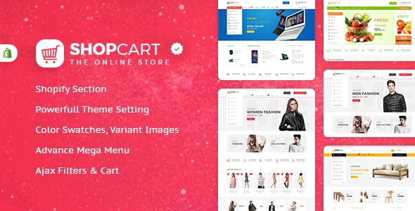 Shopcart - Shopify Multi-Purpose Responsive Theme For Fashion , Furniture , Electronics & Vegetables - Shopify eCommerce