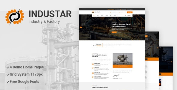 Industar - Industry & Factory PSD Template - Miscellaneous Photoshop