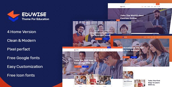Eduwise - Education Bootstrap 4 Template