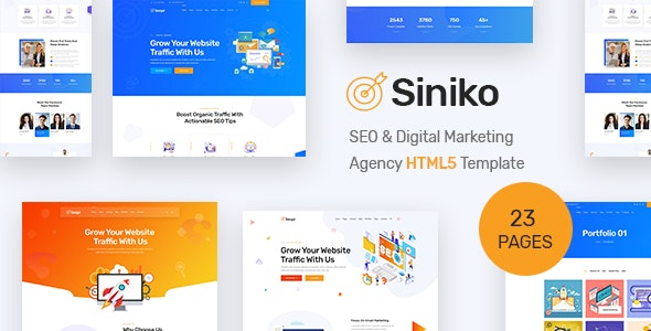 Siniko - SEO & Digital Marketing Agency HTML5 Template by BDevs