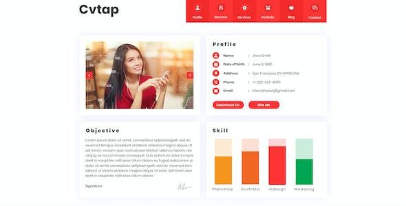 Cvtap - CV Resume Portfolio PSD Template