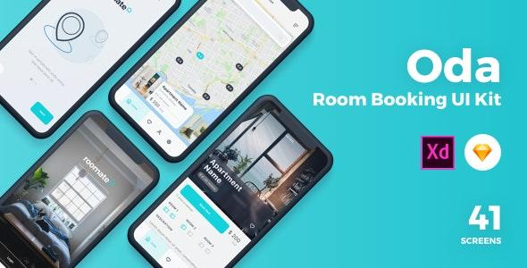 Oda - Room Booking Sketch UI Kit - Sketch UI Templates