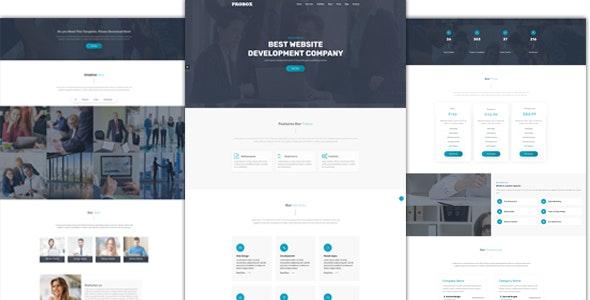Probox Multipurpose HTML One Page Template - Business Corporate