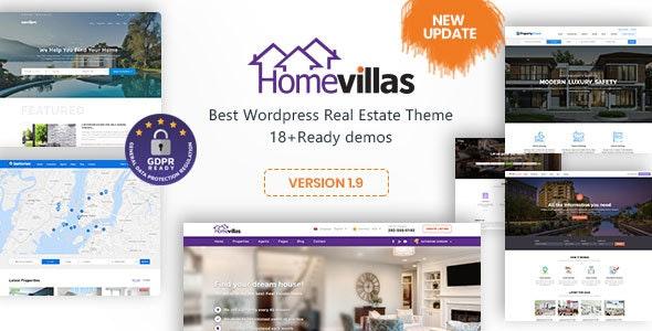Home Villas   Real Estate WordPress Theme - Directory & Listings Corporate