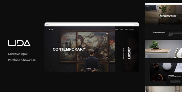 Lida - Ajax Portfolio Showcase HTML Template - Portfolio Creative