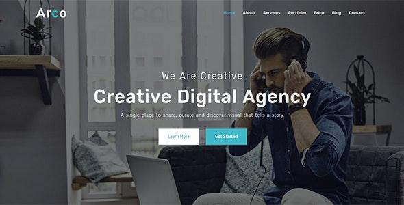 Arco - One Page Parallax Joomla! theme - Creative Joomla