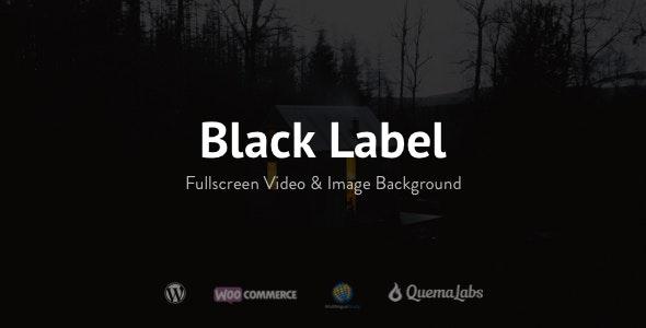Black Label - Fullscreen Video & Image Background - Photography Creative