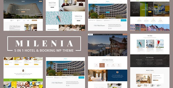 Milenia - Hotel & Booking WordPress Theme