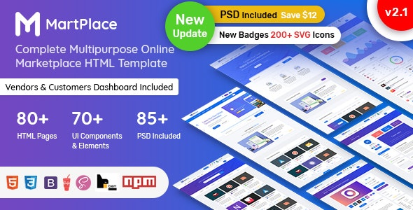 MartPlace - Multipurpose Online Marketplace HTML Template with