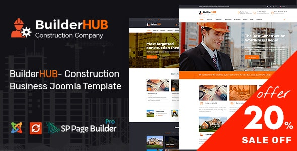 Builder HUB- Construction Business Joomla Template - Business Corporate