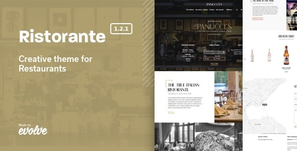Ristorante - Creative Restaurant WordPress Theme by Evolve
