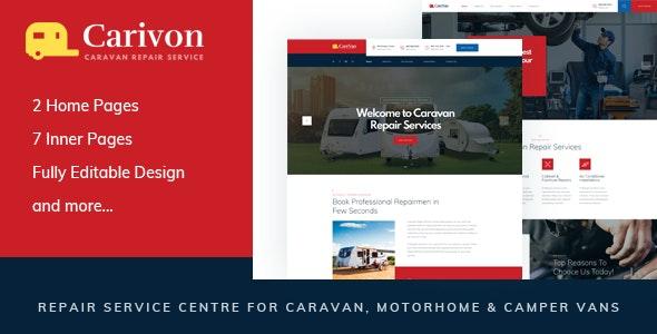 Carivon - Repair Service Centre for Caravan & Motorhome HTML Template - Business Corporate