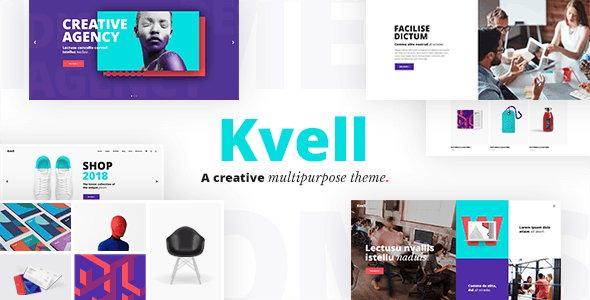 Kvell - A Creative Multipurpose Theme for Freelancers and Agencies - Creative WordPress