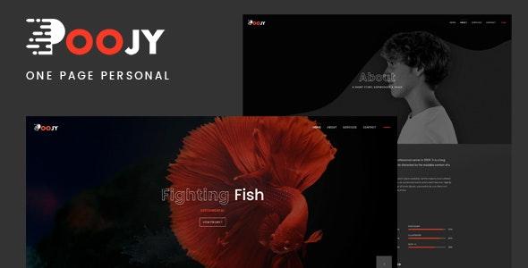 Poojy - One Page Personal Portfolio Template - Portfolio Creative