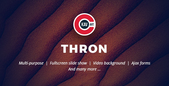 Thron - Creative One Page Template - Creative Site Templates