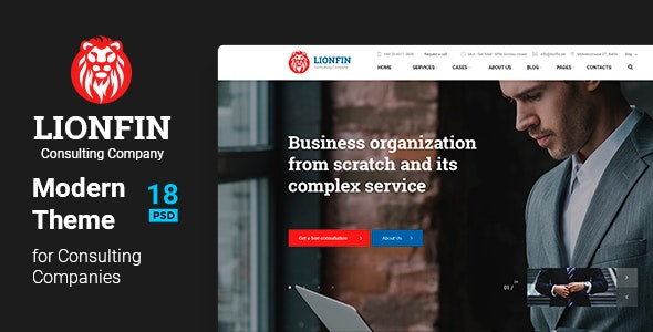 LIONFIN - Consulting PSD Template - Business Corporate