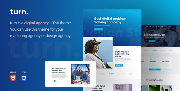Turn Digital Agency HTML Template - Site Templates